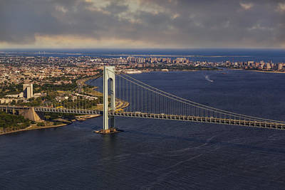 Brooklyn Bridge Photograph - Verrazano Narrows Bridge Nyc by Susan Candelario