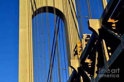 Photograph - Verrazano Narrows Bridge Tower by Anthony Butera