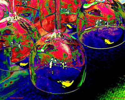 Digital Art - Verres Vermeils by Larry Beat