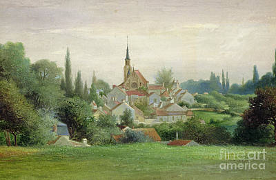 Town Painting - Verriere Le Buisson by Eugene Bourrelier