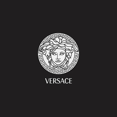 Chanel Digital Art - Versace - Black And White 02 by Alta Vita