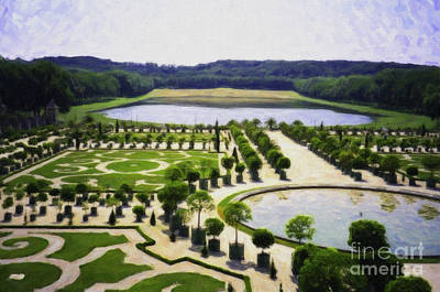Versailles Digital Paint Art Print