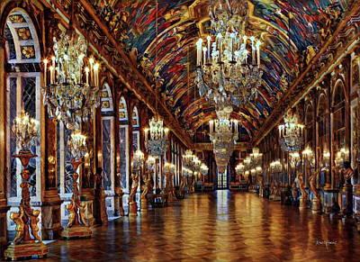 Versailles Hall Of Mirrors Art Print by Russ Harris