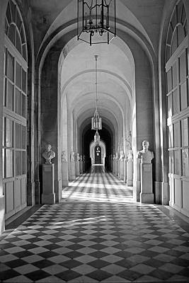 Photograph - Versailles Statuary Hall Study 2 by Robert Meyers-Lussier