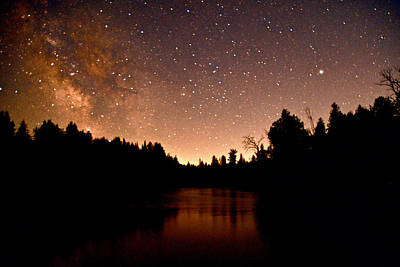 Photograph - Ausable River And The Milky Way by Michael Peychich