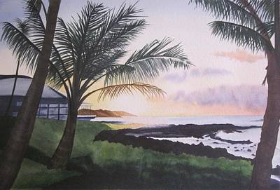 Painting - Kauai Sunrise by Teresa Beyer