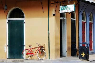 Fleurs De Lis Bicycle Photograph - Verti Marte French Quarter by Barbara Chichester