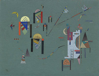 Russia Painting - Vertical Accents by Wassily Kandinsky