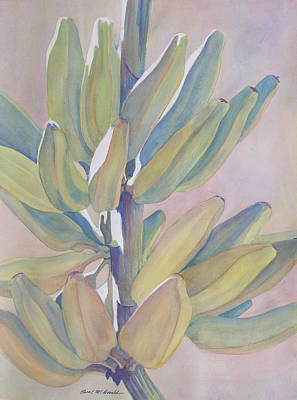 Vertical Banana Bunch Art Print by Carol McDonald