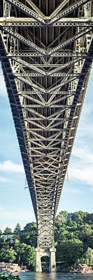 Photograph - Vertical Bridge Panorama In Seattle Washington by Open Range