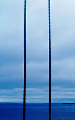 Photograph - Vertical Cables by Daniel Thompson