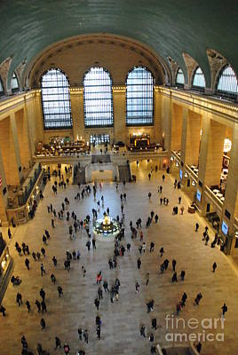 Photograph - Vertical - Catwalk View Of Grand Central Terminal by Jacqueline M Lewis