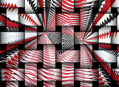 Digital Art - Vertical Illusion 3 by Barbara Giordano