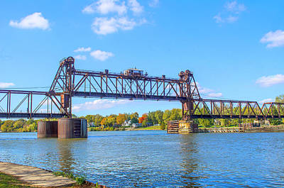 Photograph - Vertical Lift Railroad Bridge Utica Illinois by Deborah Smolinske