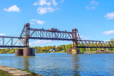 Photograph - Vertical Lift Railroad Bridge Utica Illinois by Deborah Smolinske
