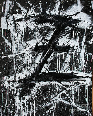 Painting - Vertical Original Acrylic Z #1 Abstract Landscape Fine Art By Tim Hovde by Tim Hovde