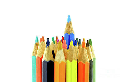 Back To School Photograph - Vertical Set Of Color Pencils by Daniel Ghioldi
