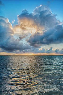 Photograph - Vertical Sunrise Clouds by David Zanzinger