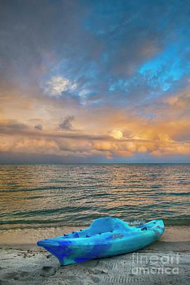 Photograph - Vertical Sunrise Great Sky by David Zanzinger