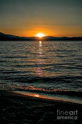 Photograph - Vertical Sunset Lake by Joe Lach
