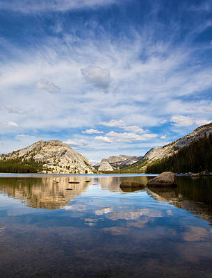 Park Scene Photograph - Vertical Version Of Lake Tenaya by Mimi Ditchie Photography