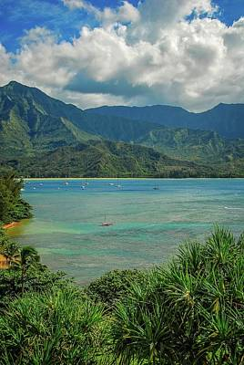 Photograph - Vertical View Across Hanalei Bay by Lynn Bauer