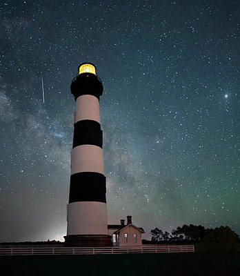 Photograph - Bodie Island Night Light by Art Cole