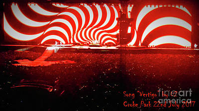 U2 Digital Art - Vertigo by MichealAnthony
