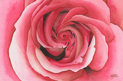Vertigo Rose Print by Ken Powers