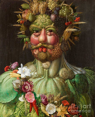 Anthropomorphic Painting - Vertumnus, 1591 by Giuseppe Arcimboldo