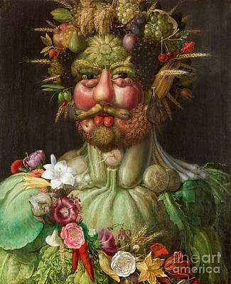 Carrot Painting - Vertumnus, 1591 by Giuseppe Arcimboldo
