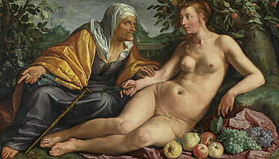 Painting - Vertumnus And Pomona by Hendrik Goltzius