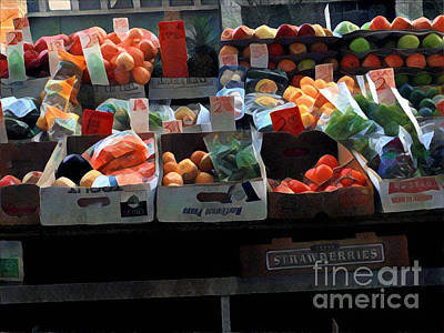 Photograph - Very Colorful Array - Market Day In New York by Miriam Danar
