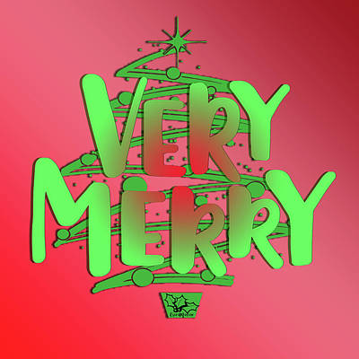 Digital Art - Very Merry 001 by Ericamaxine Price