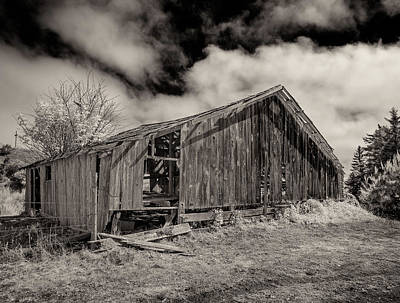 Photograph - Very Old Barn by Greg Nyquist