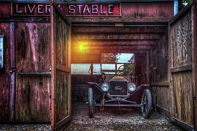 Photograph - Very Old Ford by Debra and Dave Vanderlaan