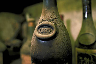 Paris Wine Bottles Photograph - Very Old French Wine by Carl Purcell