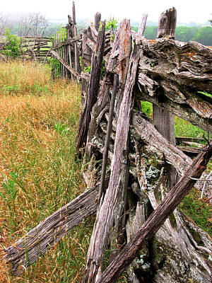 Photograph - Very Old Log Fence by David and Carol Kelly