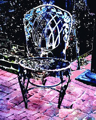 Photograph - Very Old Metal Chair by Merton Allen