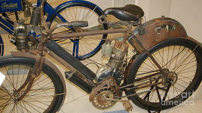 Very Old Motorcycle Indian   # Art Print