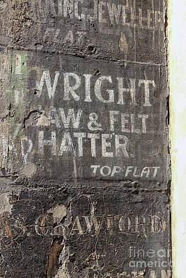 Photograph - Very Old Name Plates Painted On Wall In Edinburgh by Patricia Hofmeester