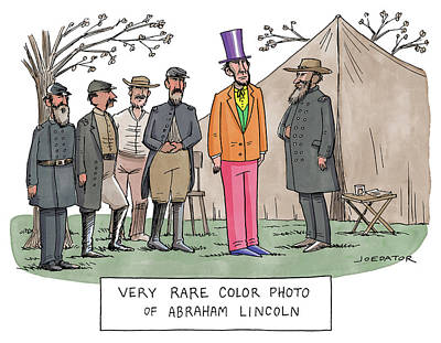 Drawing - Very Rare Color Photo Of Abraham Lincoln by Joe Dator
