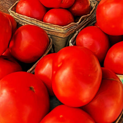 Photograph - Very Red Tomatoes by Lewis Mann