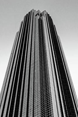Photograph - Very Tall Building In Black And White by Allen Sheffield