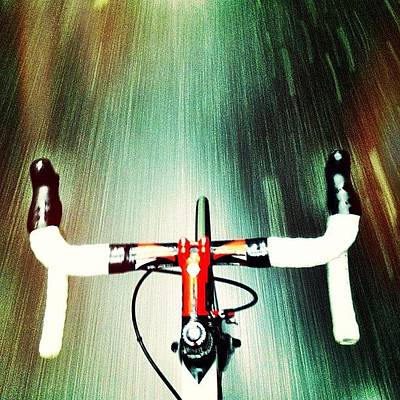 Cycling Photograph - Very Wet Commute This Morning by Ryan Jordan