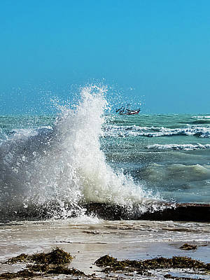 Photograph - Very Windy At High Tide 2 by Bob Slitzan