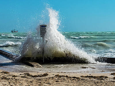 Photograph - Very Windy At High Tide by Bob Slitzan