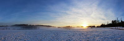 Photograph - Vesilahti Sunrise Panorama by Jouko Lehto