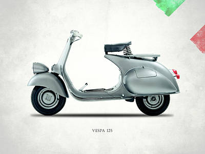 Photograph - Vespa 125 1951 by Mark Rogan