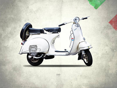Photograph - Vespa 150 1966 by Mark Rogan